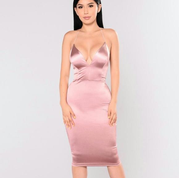 6b3c4591f7 Fashion nova pink satin dress